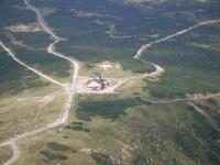 pohled k bývalé Obří boudě