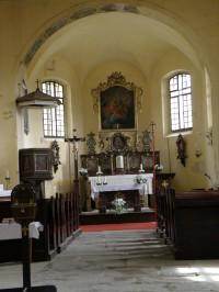 kostelík Nejsvětější Trojice v Srní