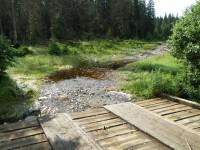 turistická cesta, změněná v potok