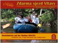 Sjezd Vltavy na raftu ZDARMA