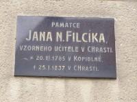 Pamětní deska J.N.Filcíka