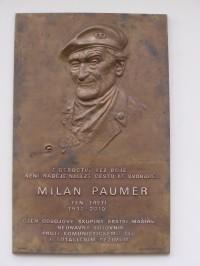 Poděbrady - pamětní deska Milana Paumera