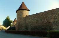 Výhled z ochozu hradeb v Poličce