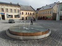 Ozdoba náměstí Rýmařov - nová kašna