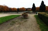 Zrcadlící se hladina vodních kanálů v zámeckém parku Holešov