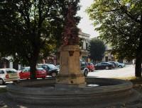 Kašna - dominanta Masarykova náměstí v Odrách
