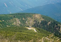 výhled od horní nádrže