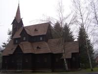 Bílá-dřevěný kostel sv. Bedřicha