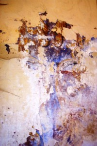 Brandlova freska, latexem zamatlaná...