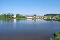 Pohled na obec Frymburk, okres Klatovy