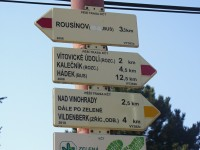 Vítovice - rozcestník