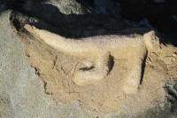 Pozůstatek starověku na Horních Lačnovských skalách (kecám, to tu asi zanechal nějaký nenechavec)