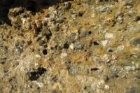 Horní Lašnovské skály jsou tvořeny slepenci a pískovci. Na obrázku je slepenec (asi už víte, proč se tak jmenuje).