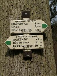 Rozcestník u Liduščina pomníku