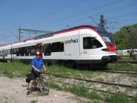 Místní vlak u Bodamského jezera