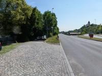 Praha, Zlíchov vjezd k přívozu a na cyklotrasu A1