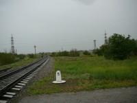 Železniční trať u Kapčagaj