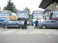 Autobusové nádraží Almaty - autobusy do Taškentu