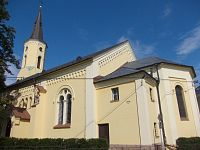 Hrabyně - pútný kostol Nanebovzatia Panny Marie