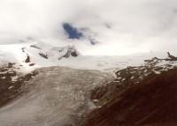 Ledovec Schlatenkees, vlevo stěna Schwarze Wand