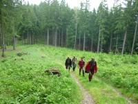 Cesta do sedla Gežov