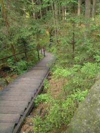 Kyjovské údolí: jedny z mnoha schodů v údolí