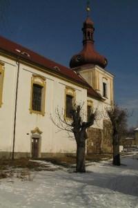 kostel sv.Vavřince: kostel v sousedství zámku