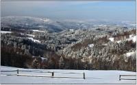 Pohled na Šumavu od Nicova
