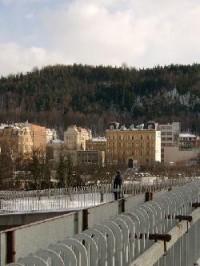 Město od silnice na Sokolov