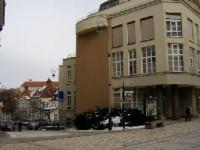 T.G.Masaryka - pěší zóna: V pozadí Lázně V
