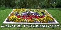Poděbrady - květinové hodiny