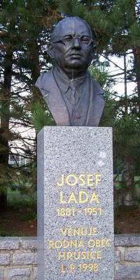 Josef Lada - Památník v Hrusicích