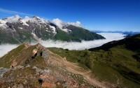 Edelweißspitze - výhledy - nejvyšší bod na Großglockner Hochalpenstrasse