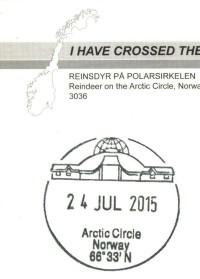 Speciální razítko na pohlednice ze Severního polárního kruhu