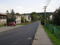 Václavovice: Václavovice - hlavní cesta procházející obcí