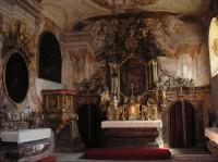 Vnitřní část kaple