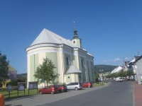 Město Albrechtice, kostel Navštívení Panny Marie