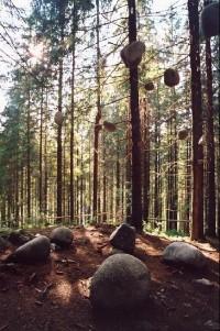 Lesnícky skanzen: Umělecká expozice
