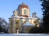 Zámecká kaple horního zámku: Kaple v parku horního zámku v Panenských Břežanech