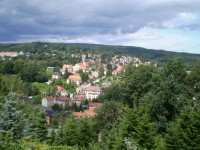 výhled z města Sebnitz