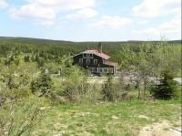 turistická chata: Pohled z modré turistické cesty.