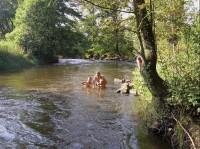 koupel v Blanici: Pod autokempem Pražák u Vodňan.