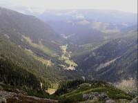 Obří důl: pohled z horní hrany Úpské jámy