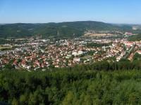Výhled z Klucaniny na Tišnov