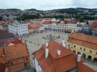 Pelhřimov - pohled z věže kostela sv. Bartoloměje