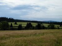 pohled za západní okraj Horní Blatné