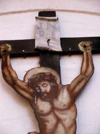 Křemešník 4: Kříž za kostelem.