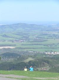 Pohled na Frenštát, Tichou, Kozlovice
