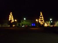 Rozsvícené vánoční stromy