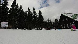 Na běžkách z Pece na Sněžku, Výrovku a zpět do Pece